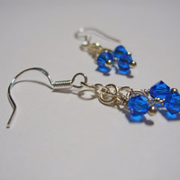Simply Swarovski Earrings (cobalt blue)