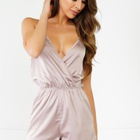 Now Or Never Romper - Champagne
