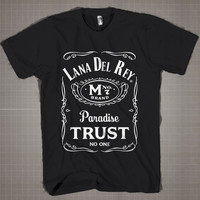 Lana Der Rey Typography Parody  Mens and Women T-Shirt Available Color Black And White