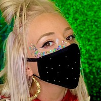 Blinged Face Mask