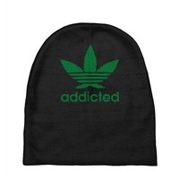 addicted ~ mens funny Baby Beanies