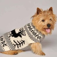Chilly Dog Sweater in Reindeer Shawl