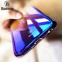 Baseus Colorful Case For iPhone 6 6S Hard Ultra thin Luxury Case Cover For iPhone 6S Plus Clear Case Color Gradient Phone Shell