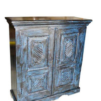 Vintage Shelves Rustic Blue Storage Cabinet/Makers Cabinet / Tool Cabinet / Buffet / Baby Blue / Farm