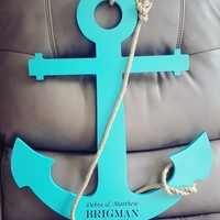 Personalized Anchor Wall Decor