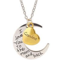 Moon and Back Necklace