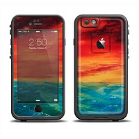 The Abstract Sunset Painting Apple iPhone 6 LifeProof Fre Case Skin Set