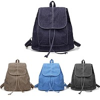 Womens Denim Backpacks, Small, Various Color Washes