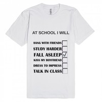 AT SCHOOL I WILL | Fitted T-Shirt | SKREENED