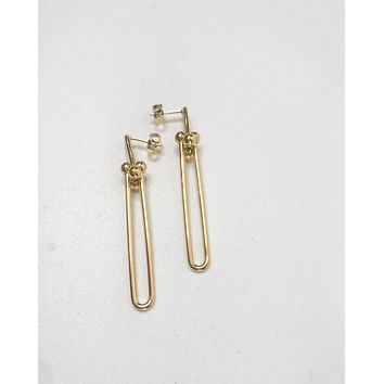 18K Linked Drop Earring