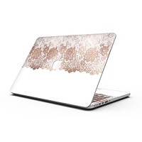 Rose Gold Lace Pattern 13 - MacBook Pro with Retina Display Full-Coverage Skin Kit