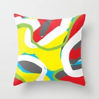 Abstract 2 Throw Pillow by PoseManikin