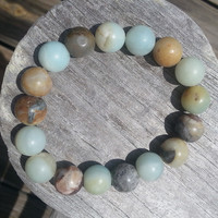 Amazonite Stone Stretch Bracelet 10mm