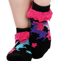 Eyelet Ankle Unicorn Socks
