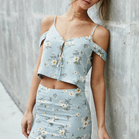 Nightwalker Flirt Floral Mini Skirt at PacSun.com