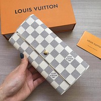 Fashion Lady Women Clutch Wallet Long Purse Quilted Leather Wallet Card Holder Handbag Bags Day Clutches