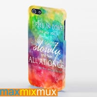 The Fault In Our Stars Quotes Painting iPhone 4/4S, 5/5S, 5C Series Full Wrap Case