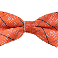 Colonnade Plaid - Orange Sherbet (Bow Ties) from TheTieBar.com - Wear Your Good Tie Everyday