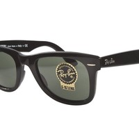 HOT NEW Original RAY-BAN WAYFARER Black Green G-15 Lens 54 MM LARGE RB 2140 901