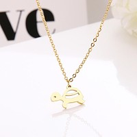 Stainless Steel Tortoise Choker Pendant Necklaces