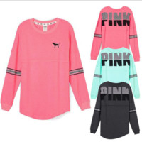 Victoria's Secret PINK Printing of cashmere sweater