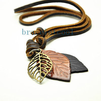soft leather necklace,men leather long necklace, women leather necklace  CR30