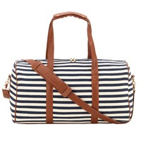 Chandler Stripe Monogrammed Duffel Bag