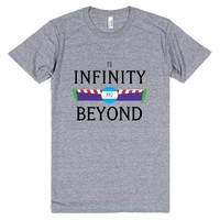 To Infinity and Beyond-Unisex Athletic Grey T-Shirt