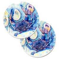 Crab   Set of 2 Cup Holder Car Coasters 8042CARC
