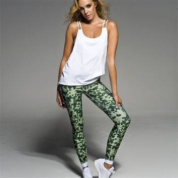 Women's Fashion Hot Sale Green Slim Leggings Casual Sportswear [10320565894]