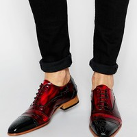 Jeffery West Leather Brogue Shoes