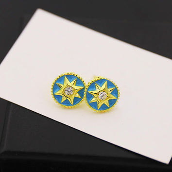 BeadyBoutique Lucky Star Jewelry Collection Earrings - Blue