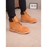 Timberland Men Fashion Boots fashionable Casual leather Breathable Sneakers Running Shoes