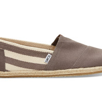 TOMS Dark Grey Stripe Men's University Classics Grey