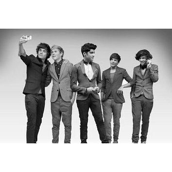 """One Direction Poster Black and White Poster 16""""x24"""""""