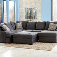 Dylan Charcoal 3 Pc. Sectional - Sectionals - Living Room - mobile