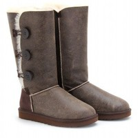 Bailey Buttoned Triplet Shearling Lined Boots + UGG Australia : mytheresa