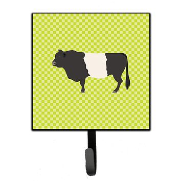 Belted Galloway Cow Green Leash or Key Holder