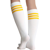 White/Gold Tube Socks