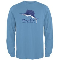 Deep Sea Marlin Mens Long Sleeve T Shirt