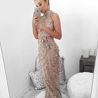 Women Summer Maxi Dress 2016 sequin Bodycon Party Dresses Strapless Vestidos Sexy tassel Off shoulder Bandage Long Dress