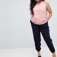 ASOS CURVE Swing Top With Shirred Neck at asos.com