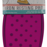Dahlia Purple Iron Resting Pad Heat Resistant Silicone Morgan Home Brighter Days
