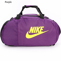 NIKE men and women shoulder fitness bag large capacity travel bag F0639-1 Purple