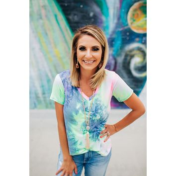Shoot For The Stars Tie Dye Top