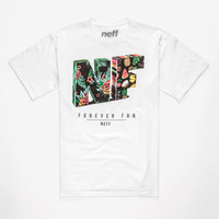 Neff Fold Mens T-Shirt White  In Sizes