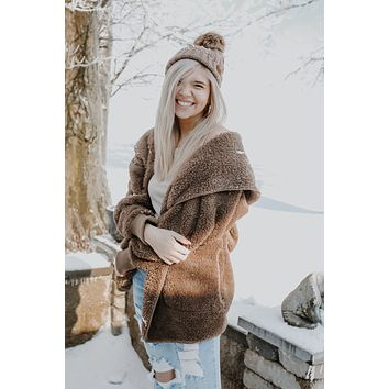Cozy Nights Cardigan - Mocha