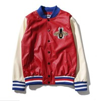 Gucci Fashion Bee Embroider Button Cardigan Jacket Coat