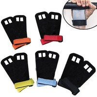 5 Colors Pull up glove Barbell grip CROSSFIT GRIP PALM PROTECTOR Weight Lifting Glove PULL UP GRIP gymnastics grip