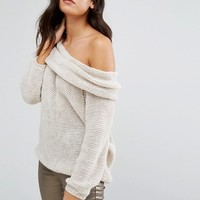 Love Cold Shoulder Cowl Neck Sweater at asos.com